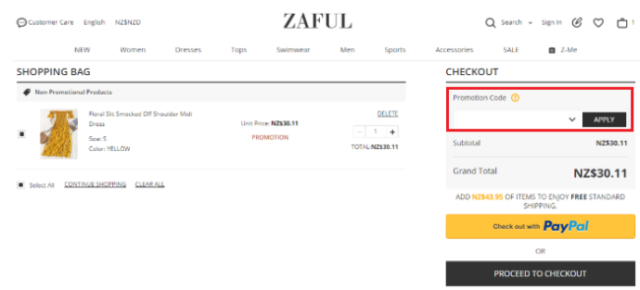 zaful coupon codes and deals